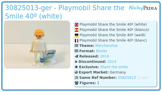 Playmobil 30825013-ger - Playmobil Share the Smile 40º (white)