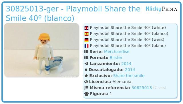 Playmobil 30825013-ger - Playmobil Share the Smile 40º (blanco)