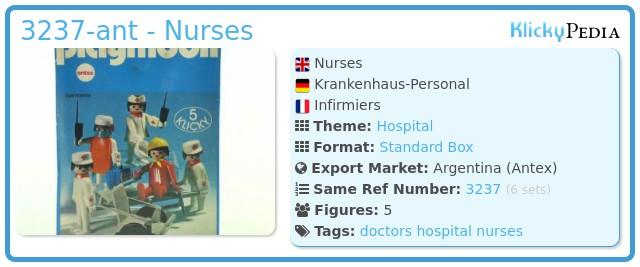 Playmobil 3237-ant - Nurses