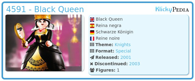 Playmobil 4591 - Black Queen