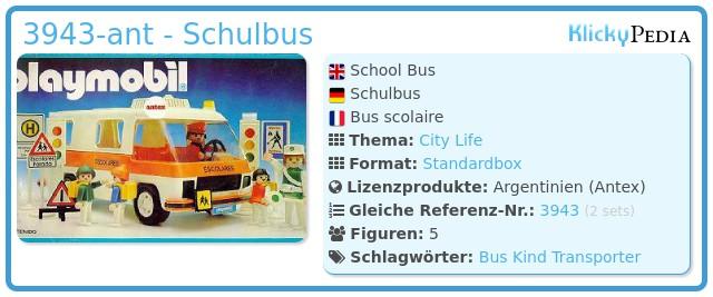 Playmobil 3943-ant - Schulbus