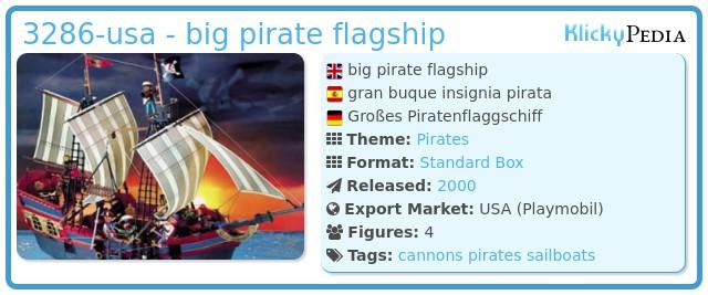 Playmobil 3286-usa - big pirate flagship