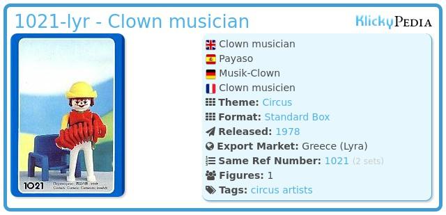 Playmobil 1021-lyr - Clown musician