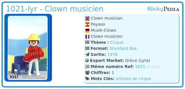 Playmobil 1021-lyr - Clown musicien