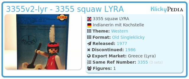 Playmobil 3355v2-lyr - 3355 squaw LYRA