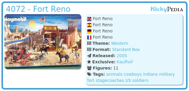 Playmobil 4072 - Fort Reno