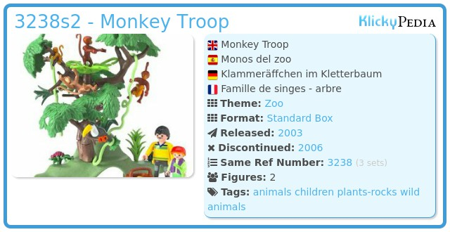 Playmobil 3238s2 - Monkey Troop