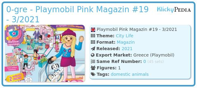 Playmobil 0-gre - Playmobil Pink Magazin #19 - 3/2021