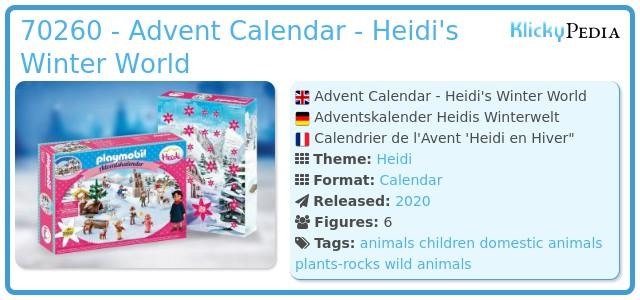 Playmobil 70260 - Advent Calendar - Heidi's Winter World