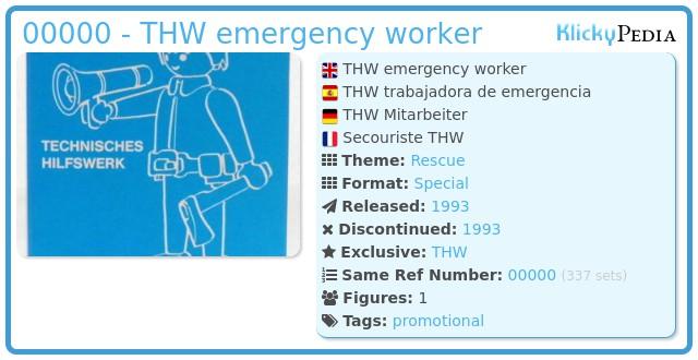 Playmobil ??? - THW emergency worker