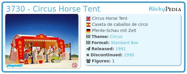 Playmobil 3730 - Circus Horse Tent