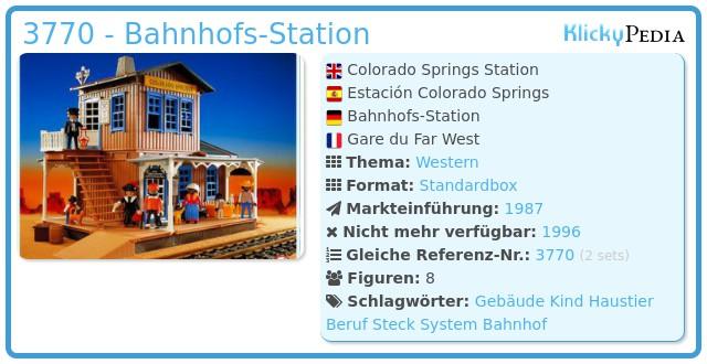 Playmobil 3770 - Bahnhofs-Station