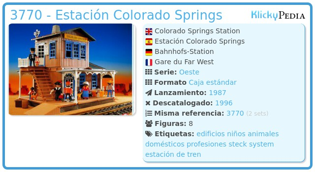 Playmobil 3770 - Estación Colorado Springs