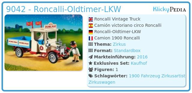 Playmobil 9042 - Roncalli-Oldtimer-LKW