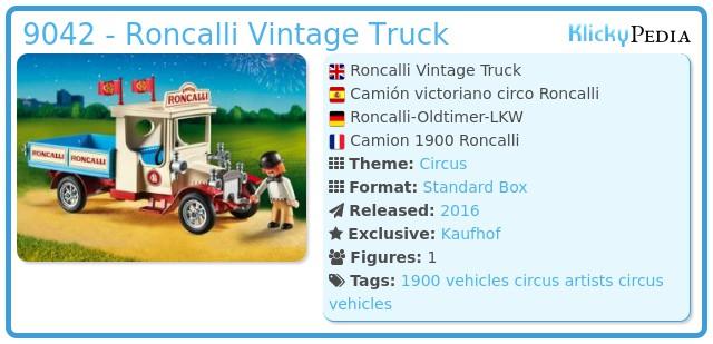 Playmobil 9042 - Roncalli Vintage Truck