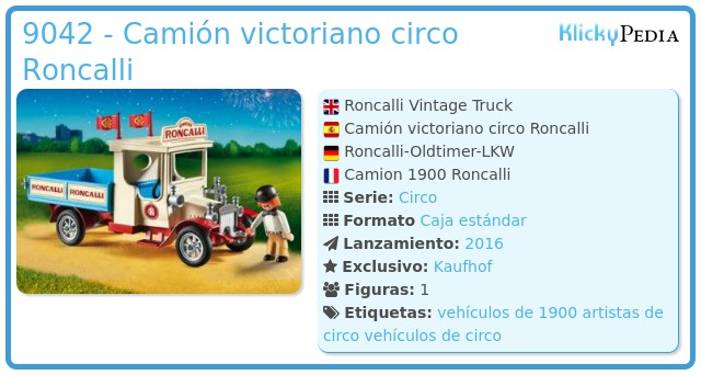 Playmobil 9042 - Camión victoriano circo Roncalli