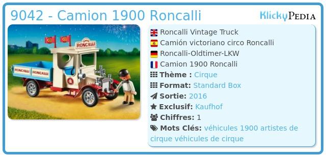 Playmobil 9042 - Camion 1900 Roncalli