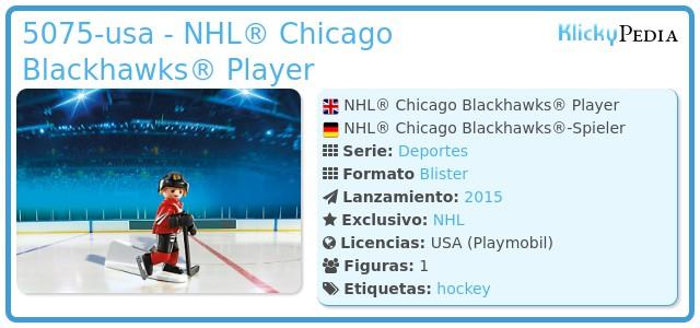 Playmobil 5075-usa - NHL® Chicago Blackhawks® Player