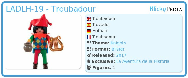 Playmobil LADLH-19 - Troubadour