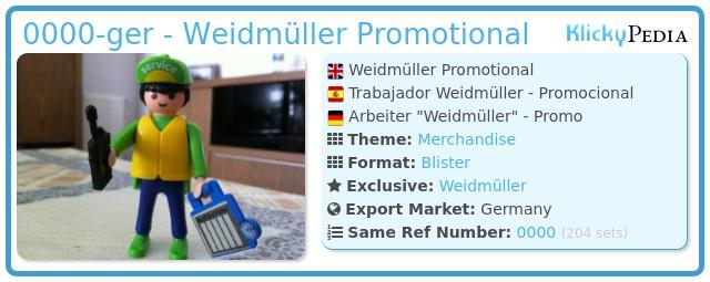 Playmobil 0000-ger - Weidmüller Promotional