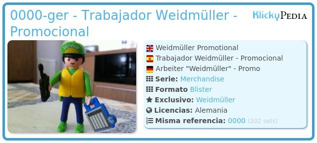 Playmobil 0000-ger - Trabajador Weidmüller - Promocional