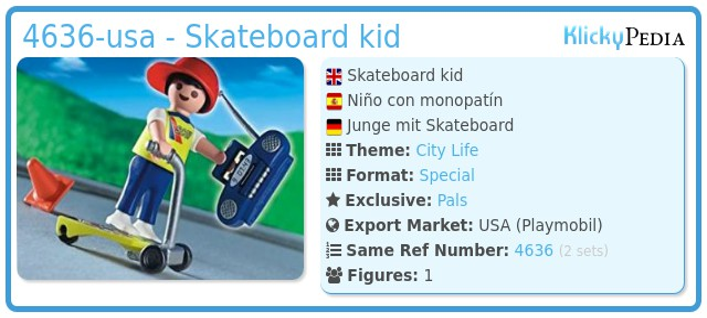 Playmobil 4636-usa - Skateboard kid