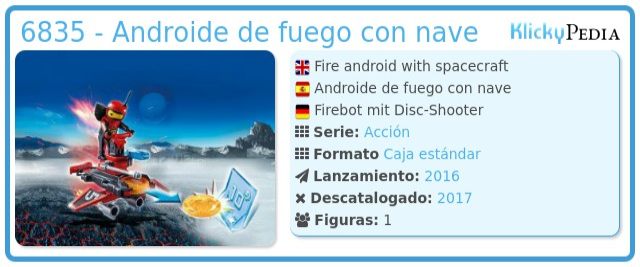 Playmobil 6835 - Androide de fuego con nave