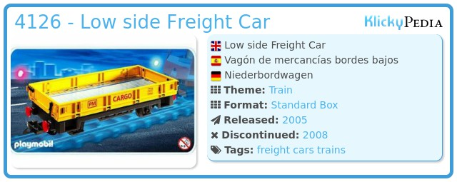 Playmobil 4126 - Low side Freight Car