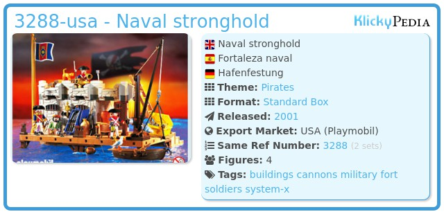 Playmobil 3288-usa - naval stronghold