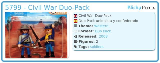 Playmobil 5799 - Civil War Duo-Pack