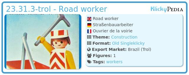 Playmobil 23.31.3-trol - Road worker