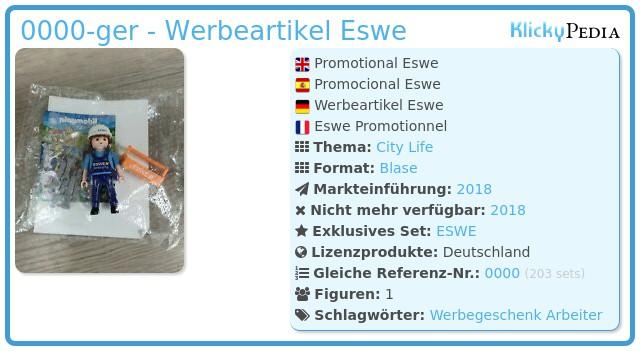 Playmobil 0000-ger - Werbeartikel Eswe