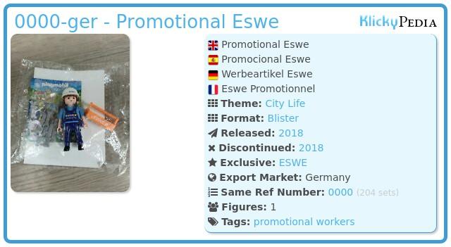 Playmobil 0000-ger - Promotional Eswe