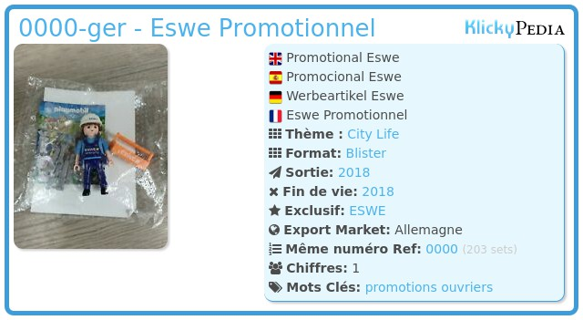 Playmobil 0000-ger - Eswe Promotionnel