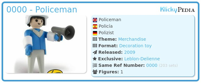 Playmobil 0000 - Policeman