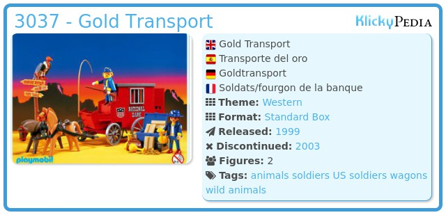 Playmobil 3037 - Gold Transport
