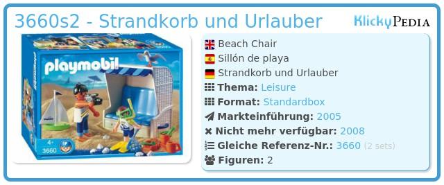 Playmobil 3660s2 - Strandkorb und Urlauber
