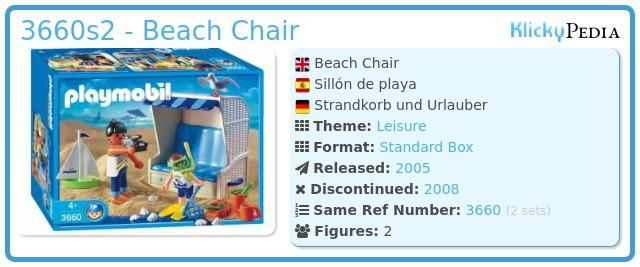 Playmobil 3660s2 - Beach Chair