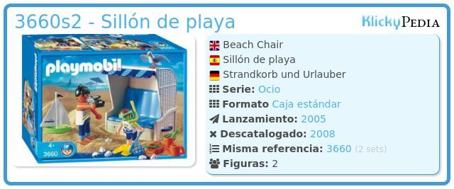 Playmobil 3660s2 - Sillón de playa