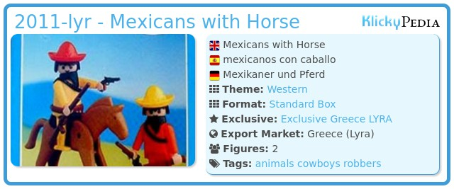 Playmobil 2011-lyr - Mexicans with Horse