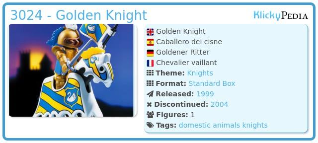 Playmobil 3024 - Golden Knight