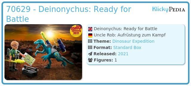 Playmobil 70629 - Dino Rise Deinonychus: Ready for Battle