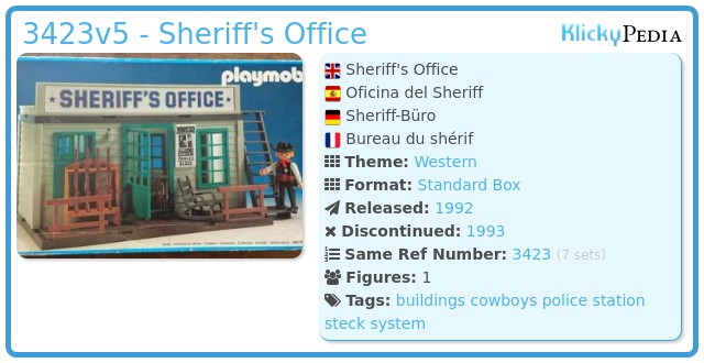 Playmobil 3423v5 - Sheriff's Office