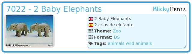 Playmobil 7022 - 2 Baby Elephants
