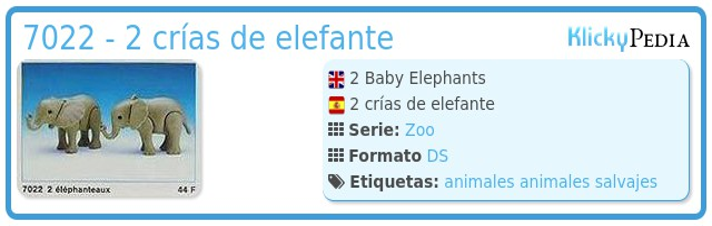 Playmobil 7022 - 2 crías de elefante