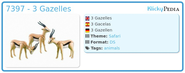 Playmobil 7397 - 3 Gazelles
