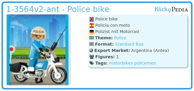 Playmobil 1-3564v2-ant - Police bike