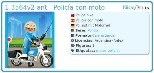 Playmobil 1-3564v2-ant - Policía con moto