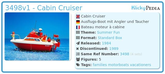 Playmobil 3498v1 - Cabin Cruiser
