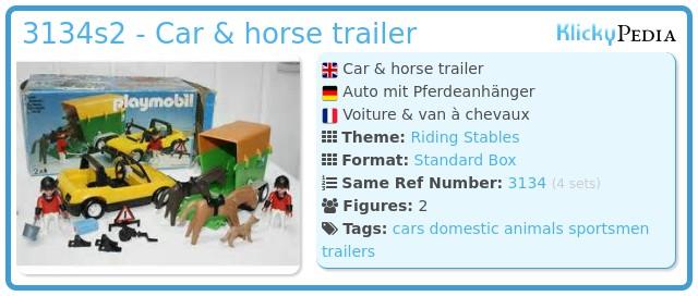 Playmobil 3134s2 - Car & horse trailer